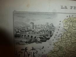 1880 LOT (Cahors,Figeac,Gourdon,Bretenoux,Livernon,Lalbenque,Luzech,etc) Carte Géo-Descriptive:Edition Migeon,géograph - Cartes Géographiques