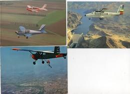 3 CPM - AVIATION CIVILE - Centre De Parachutisme Sportif   De Bergerac - Broussard - Horizon, Rallye Commodore - Hoover - Parachutisme