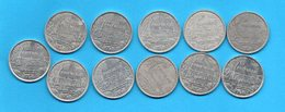 LOT 11 Pièces De 2 Francs - (années Diférentes) - Polynésie Française - Frans-Polynesië