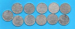 LOT 11 Pièces De 2 Francs - (années Diférentes) - Polynésie Française - French Polynesia
