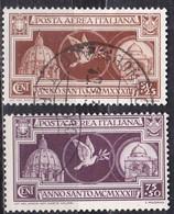 Regno D'Italia, 1933 -  Anno Santo, Posta Aerea - Nr.A54/A55 Usato° - Usati