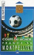 TELECARTE 50 UNITES. 98 COUPE DU MONDE MONTPELLIER - Sport