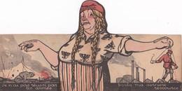 CARTE DE PROPAGNADE - ANTI-ALLEMANDE ET BOLCHEVIQUE (Carte  Dépliante En 3 Parties) - Sátiras
