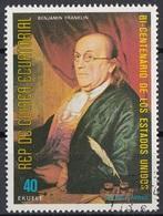 """Guinea Equatoriale 1976 Sc. 7570 """"Benjamin Franklin"""" Quadro Dipinto  Paintings - Nuovo CTO Equatorial - Guinea Equatoriale"""