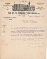 Etats Unis  Lettre Illustrée 21917 The SMITH Premier Type Writer NEW YORK  Pour Fonquernie Laroque D'Olmes Ariège - Etats-Unis