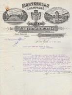 Etats Unis Facture Lettre Illustrée 5/5/1913 Alfred De MONTEBELLO Champagne Mareuil S Ay Agent Léon Renault NEW YORK - Etats-Unis
