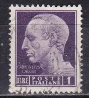 Regno D'Italia, 1945 -  1 Lira Giulio Cesare, Fil. Ruota - Nr.531 Usato° - Usados