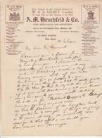 Etats Unis Facture Lettre Illustrée 10/6/1910 KIRSCHFELD Co Pour GILBEYB Wine Importer Champagne Duval, Mansard NEW YORK - Etats-Unis