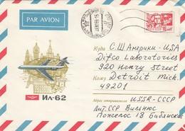 GOOD LITHUANIA Postal Cover To USA 1969 - Airplane - Lithuania