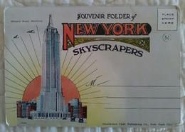 CARNET DEPLIANT ACCORDEON USA - NEW YORK CITY - SOUVENIR FOLDER OF NEW YORK SKYSCRAPERS TB PLAN GRATTE CIEL - Multi-vues, Vues Panoramiques