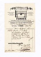 Facture De 1842 - Etablissement Fenoux - Portefeuilliste à Paris. - France