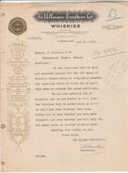 Etats Unis Facture Lettre Illustrée 23/5/1916 The ULLMAN EINSTEIN Co Whiskies CLEVELAND Distillerie - Etats-Unis