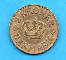 DANEMARK - DANMARK - Pièce - 2 KRONER 1939 - N. GJ - Denmark
