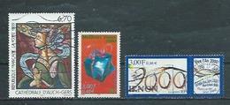 FRANCE   Yvert  N° 3254-3290-3291  Oblitérés - France