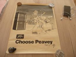 Affiche Musique Pub Amplis Peavey Illustrée Par Malhon Vickery Trous épingle + 2 Trous Sur L'affiche 43.2 X 57 Environs - Affiches & Posters