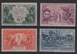 OCE 1 - OCEANIE N° 80/83 Neufs* Exposition Coloniale Paris - Oceania (1892-1958)