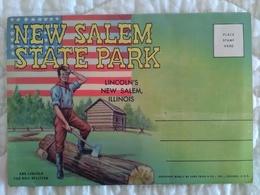 CARNET DEPLIANT ACCORDEON USA - ILLINOIS Lincoln's New Salem State Park - Belles Illustrations - Etats-Unis