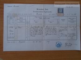 ZA172.20 Old Document -   Hradisko - Kroměříž,  1887 - Jan Vecerka - Josef Vecerka-  Martina Sedlacka - Naissance & Baptême
