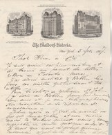 Etats Unis Lettre Illustrée 5/2/1907 THE WALDORF ASTORIA Hôtel NEW YORK - Etats-Unis
