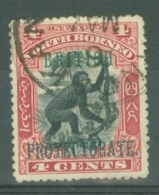 North Borneo: 1901/05   British Protectorate OVPT - Orang-Utan    SG130   4c  [Perf: 13½-14]  Used - North Borneo (...-1963)