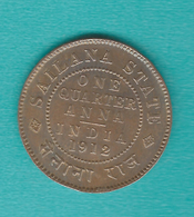 India - Princely States - Sailana - ¼ Anna - 1912 - KM16 - Inde
