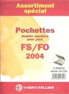 Yvert Et Tellier - ASSORT. De POCHETTES FS/FO 2004 (Double Soudure) - Bandes Cristal