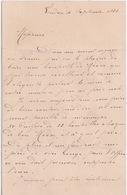 ANGLETERRE -LONDRES  4 SEPTEMBRE 1884 - LETTRE DE R. WAGNER 2 MOSELLE VILLAS LORDSHIPS LANC WOOD GREEN LONDRES - Royaume-Uni