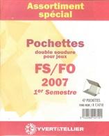 Yvert Et Tellier - ASSORT. De POCHETTES FS/FO 1er SEMESTRE 2007 (Double Soudure) - Bandes Cristal