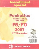 Yvert Et Tellier - ASSORT. De POCHETTES FS/FO 1er SEMESTRE 2007 (Double Soudure) - Mounts