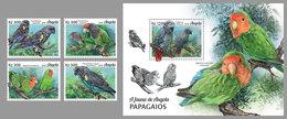 ANGOLA 2018 - Parrots, 4v + S/S. Official Issue - Perroquets & Tropicaux