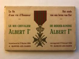 Belgique - Carnet Complet De 10 Cpa Du Roi Chevalier Albert 1er Trouvé Mort à Marche Les Dames En 1934 - België