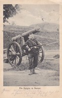 AK Ein Belgier In Namur - Kanone Artillerie Soldat Gewehr Bajonett - 1. WK - Feldpost Res. Inf. Regt 64 - 1916 (38962) - Namur