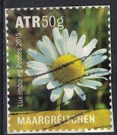 Luxembourg 2015 Oblitéré Used Fleurs Sauvages Daisy Marguerite Pâquerette SU - Oblitérés