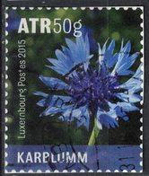 Luxembourg 2015 Oblitéré Used Fleurs Sauvages Cornflower Karblumm Bleuet SU - Oblitérés