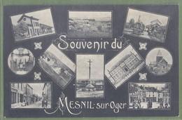 CPA Multivues, Peu Courante - MARNE - SOUVENIR DE MESNIL SUR OGER - Nombreuses Vues Animées Dont Gare Avec Locomotive - - Other Municipalities
