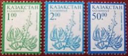 Kazakhstan  1999   Definitive  Flora 3 V MNH - Kazakistan