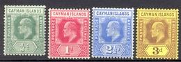 Iles Caïmans - 1908 - Yt 21/24 - Edouard VII - * Charnière - Iles Caïmans