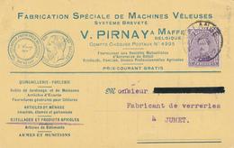 383/28 -- Carte Illustrée TP Petit Albert HAVELANGE 1922 - Machines Veleuses Pirnay à MAFFE - 1915-1920 Alberto I