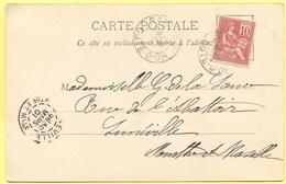 FRANCIA - France - 1901 - 10c Mouchon - 21 Côte D'Or - Saulieu - Vue Générale De Saulieu - Viaggiata Da Saulieu Per Luné - 1900-02 Mouchon