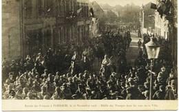 5622  Moselle - FORBACH : Entrée Des Français Le 22 Novembre 1918 - Défilé Dans Les Rues De La Ville - Circulée En 1919 - Forbach