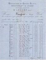 Facture De 1870 - Ets. Boucharlat & Lecerf - Succ H. Lecerf. - Papiers Peints à Paris. - France