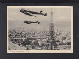 Frankreich France Messerschmitt ME 110 über Paris - Eiffelturm