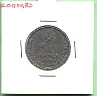 COMORES  50  FRANCS  1975 - Comores