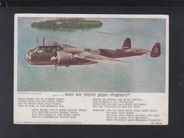 Dt. Reich AK Denn Wir Fahren Gegen England 1940 Feldpost - Weltkrieg 1939-45