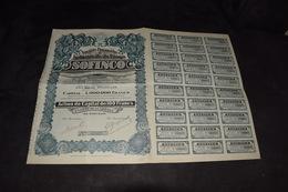 Société Financière Et Industrielle Du Congo Sofinco Complet 1927 - Afrique