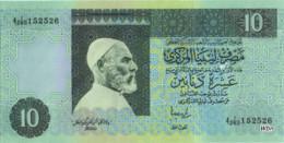 Libya 10 Dinars (P61)  1991 Sign 5 -UNC- - Libye