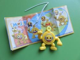 005 - Kinder Surprise - Emojoy Tête Pivotante - Emoji à Lunettes - SE784C - 2018 + BPZ - Montables