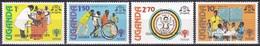 Uganda 1979 Organisationen UNO ONU UNICEF Kinder Children Impfung Vaccination Geschichte History Befreiung, Mi. 242-5 ** - Uganda (1962-...)