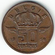 Belgium, 50 Centimes 1958 (NL) - 03. 50 Centimes