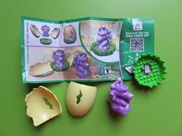 046 - Kinder Surprise - Natoons Dinosaures - Dinosaure Violet - SE079 + BPZ - 2017 - Montables